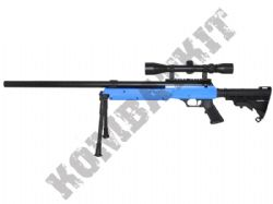 M187 Sniper Rifle Airsoft Gun Black and Blue
